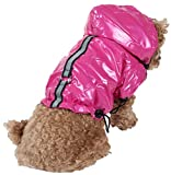 Pet Life Reflecta-Sport' Fashion Insulated Adjustable and Reflective Windproof Water-Resistant Pet Dog Coat Jacket Rainbreaker w/Removable Hood, X-Small, Hot Pink