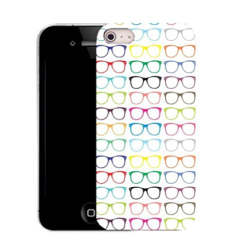 Mobile Case Mate IPhone 4 clip on Silicone Coque couverture case cover Pare-chocs + STYLET - rainbow sunglasses pattern (SILICON)