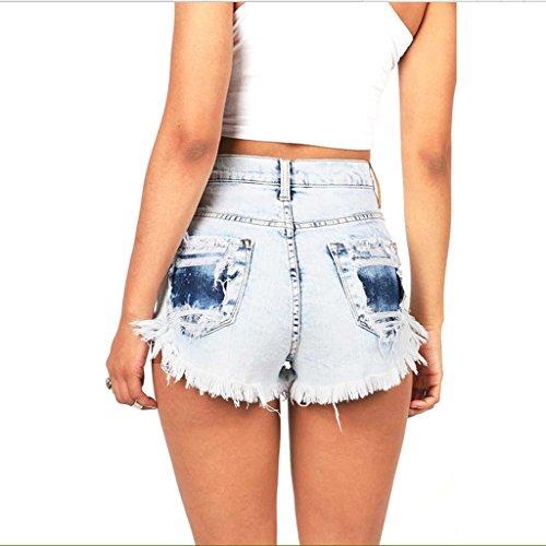 Amincissement Pantalon Ms la plage lasticit Size Femme en Taille jean haute Short de S de t chaud serr BUSINE FANG QI hanche Uxwtq7aw