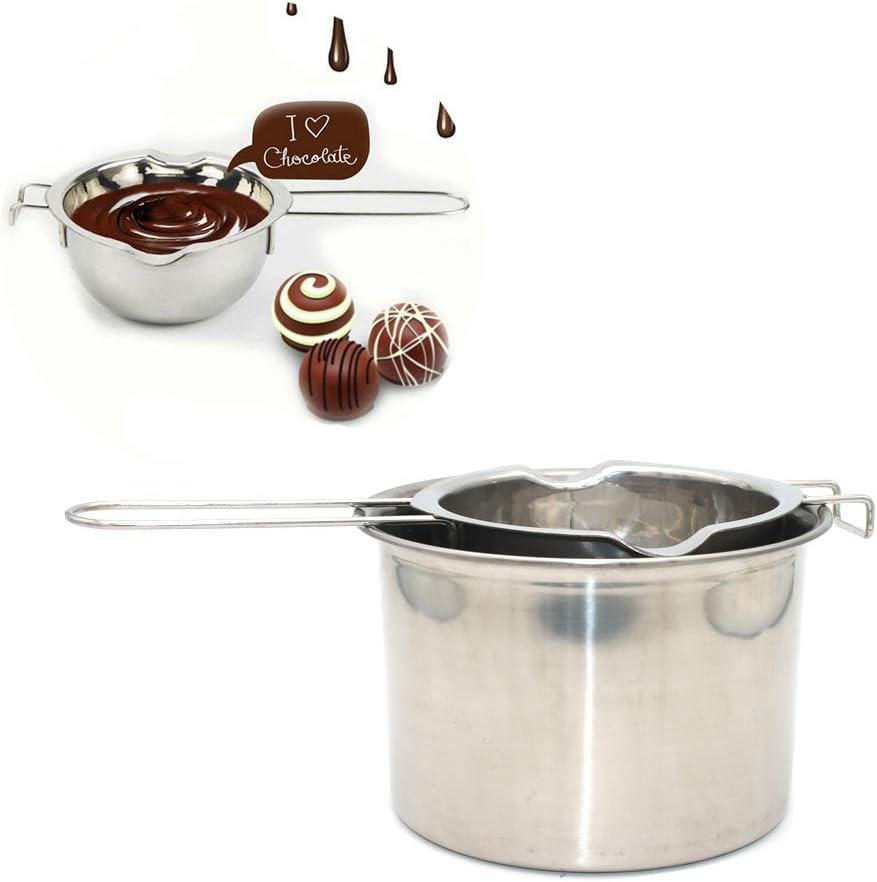 Milk Warmer Nonstick Milk Pot Butter Chocolate Melted Heating Pot Cheese Pot and Sauces Small Stainless Steel Pan 800ml Butter Coffee Warmer
