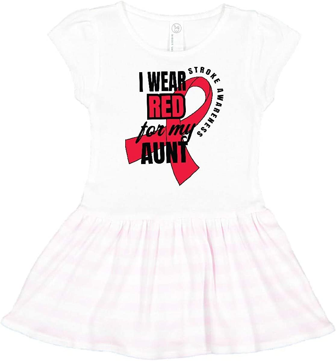 inktastic I Wear Red for My Great Aunt Stroke Awareness Baby T-Shirt
