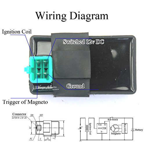Amazon.com: Wingsmoto Ignition CDI Box 4 Pins DC 50cc 70cc ... on