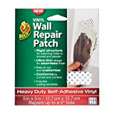 Duck Brand Vinyl Wall Repair Patch, Heavy Duty, 7'' x 7'', Made in USA