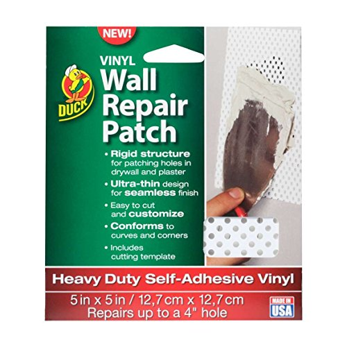 Duck Brand Vinyl Wall Repair Patch, Heavy Duty, 7'' x 7'', Made in USA by Duck