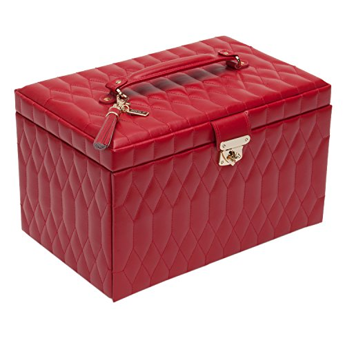 WOLF 329672 Caroline Large Jewelry Case, Red by WOLF