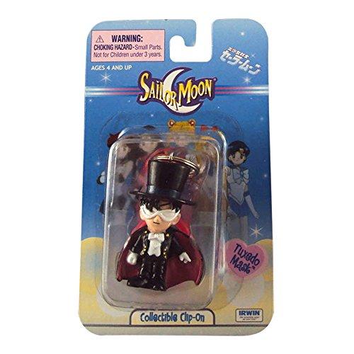 - Sailor Moon Keychain Clip On, By Irwin Toy - Tuxedo Mask.