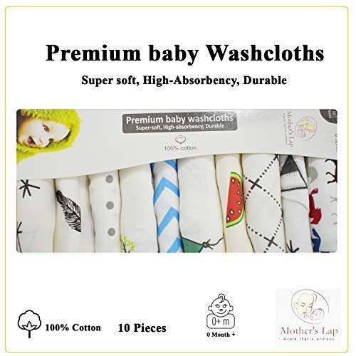 Cottington Lane Mix Random Swaddle Blanket (Baby Wash Cloths – 12″ x 12″, Baby Wash Cloths – 12″ x 12″)