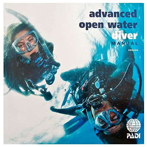 Open Water Diving - New PADI Advance Open Water AOW 2016 Book Manual with Data Carrier # 70139
