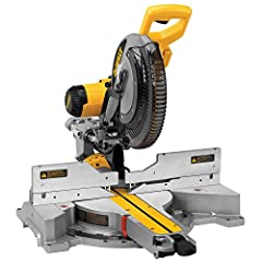 "The DEWALT 12"" Double Bevel Compound Miter Saw is powered by a 15A 3,600 RPM and offers a new precise miter system and machined base fence support for optimal accuracy. Features a new handle design for maximum portability, cam lock miter, det..."