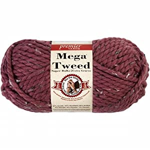 Premier Yarns 1007-10 Mega Yarn-Mauve Tweed