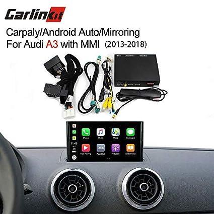 Carlinkit Wireless iOS Carplay Android Auto Receiver Box for Audi A3  (13-18) Original Screen Upgrade(Support Navigation,Google&Waze Map,