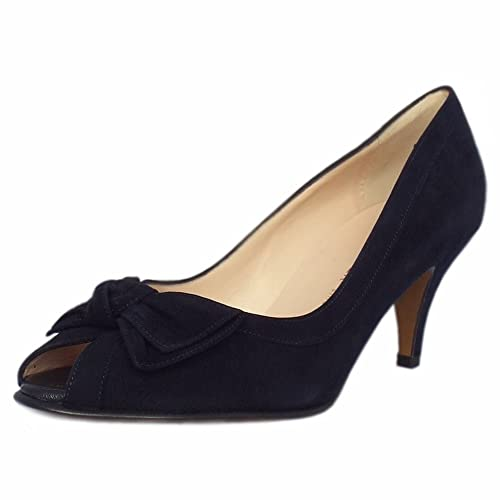 63675d1888ba Peter Kaiser Satyr Women s Peep Toe Dressy Shoes in Notte Suede   Amazon.co.uk  Shoes   Bags
