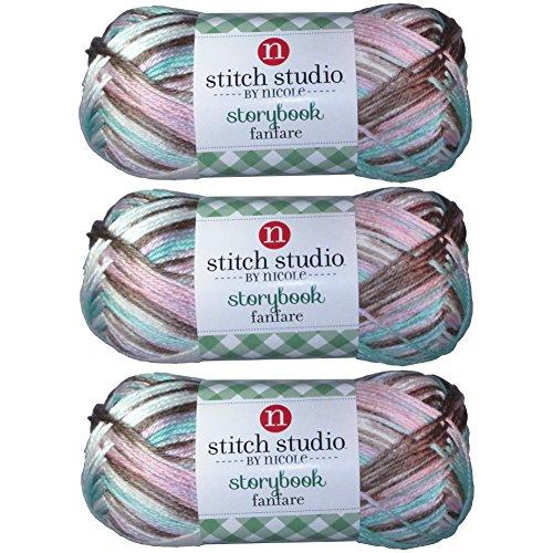 Stitch Studio Yarn by Nicole, Storybook Fanfare (3 Skeins) Tea (Yarn Tea)