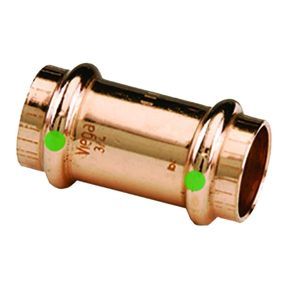 Copper Viega Propress Coupling with Stop 78052 P1: 10//Each