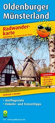 Oldenburger Münsterland: Radwanderkarte mit Ausflugszielen, Einkehr- & Freizeittipps, reissfest, wetterfest, beschriftbar und wieder abwischbar. 1:100000 (Radkarte / RK)