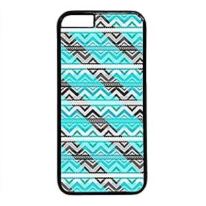 Custom IPhone 6 Case Custom 0088982 colorful chevron stripe pattern case for iphone 6 pc material black IPhone 6 Case
