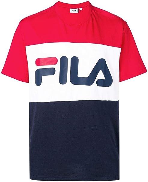Fila Luxury Fashion Hombre 681244G06 Rojo T-Shirt | Temporada Permanente: Amazon.es: Ropa y accesorios