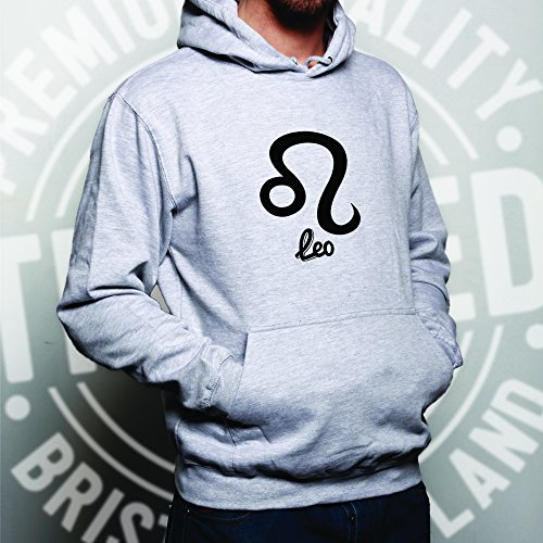 Horoscope Unisex Hoodie Leo Zodiac Star Sign Birthday White XS