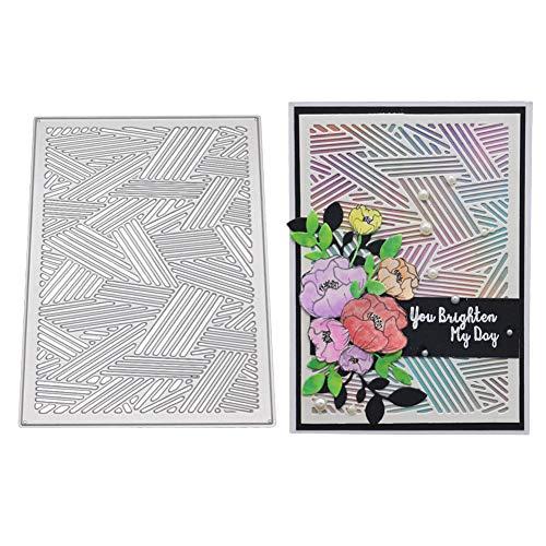 AkoMatial Cutting Dies,Striped Design Embossing Cutting Dies Tool Stencil Template Mold Card Making Scrapbook Album Paper Card Craft,Metal