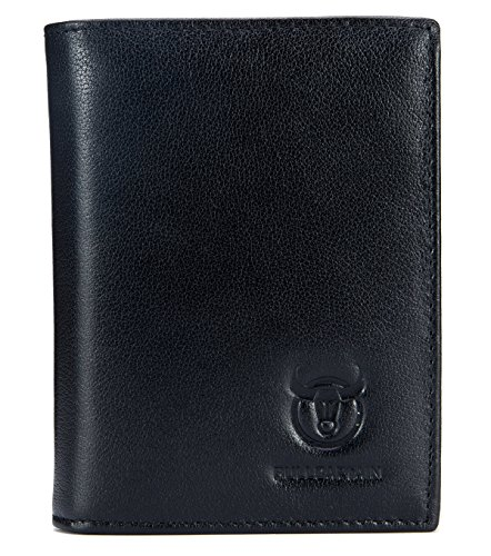 (Genuine Leather Men Wallet Short Design Bifold Wallets Credit Card Holder for Mens)