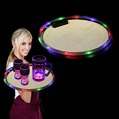 """14"""" LED Light Up Serving Tray Party Barware"""