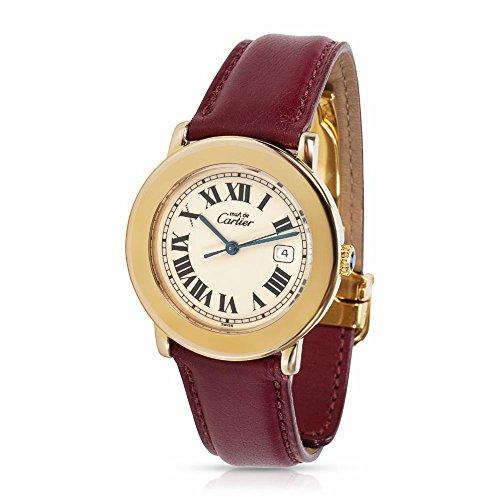 Cartier Ronde 1800 1 Unisex Watch in Vermeil (Certified Pre-Owned)