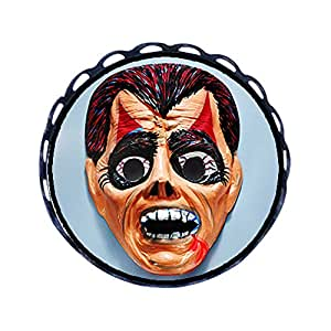 Chicforest Ancient Style Halloween devil mask Round Pin Brooch