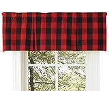 Cheap Buffalo Check Lined Pleat Valance, 45 X 15 Window Curtain Drapery