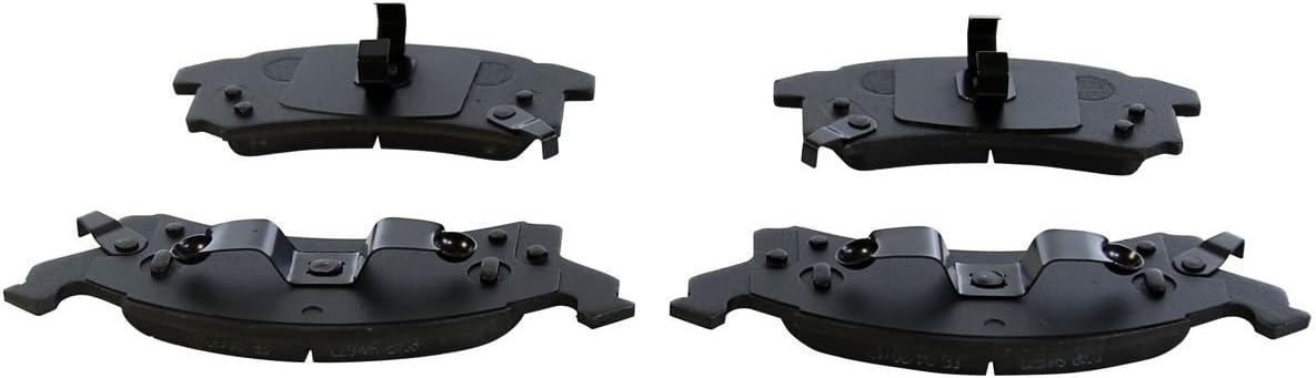 AutoShack RSMK6582-6582-673-2-4 Front Brake Rotors and Semi Metallic Pads