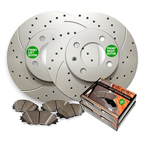 88 Brake Rotors - Front Low Dust Ceramic Pads and Premium Drilled and Slotted Brake Rotors BAXMBKG20062DS