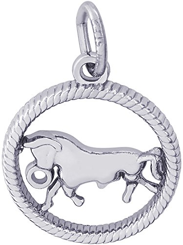 Rembrandt Charms, Taurus, 14k White Gold
