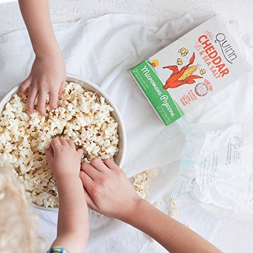 Quinn Snacks Microwave Popcorn - Made with Organic Non-GMO Corn - Great  Snack Food for Movie Night - White Cheddar, 7 Ounce - Feedlinks net Global