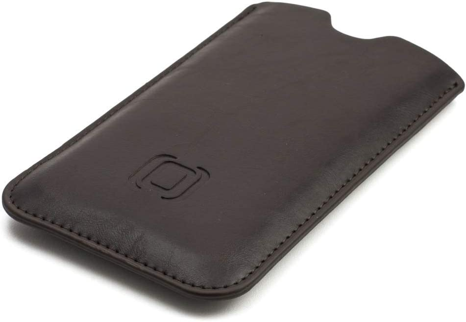 Dockem Executive Sleeve for iPhone 11 Slip-on Case Slim /& iPhone XR: Slightly Padded Premium Synthetic//Vegan Leather with Microfiber Lining 6.1 Dark Brown Simple