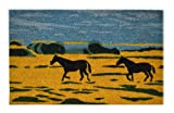 Imports Decor Vinyl Back Coir Doormat, Horse Silhouette, 18-Inch by 30-Inch