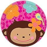 Amscan 7-inch International Monkey Love Paper Plates