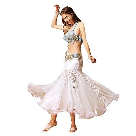 Qichengdian Falda de Danza del Vientre para Mujer Falda de Danza ...