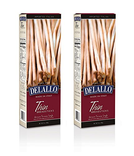 Italian Delallo Fresh Breadsticks 3.5oz (Pack of 2) (Thin) (Italian Breadsticks)