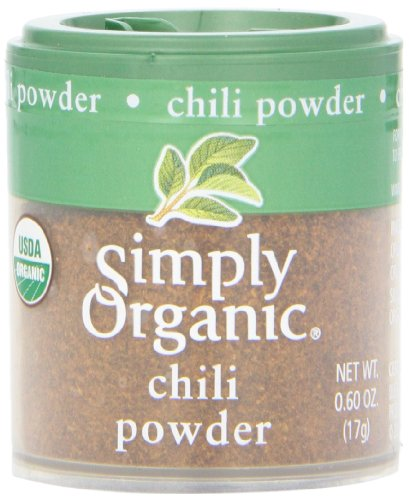 Simply Organic Chili Powder Certified Organic, 0.60-Ounce Containers (Pack of 6) (Chili Simply)