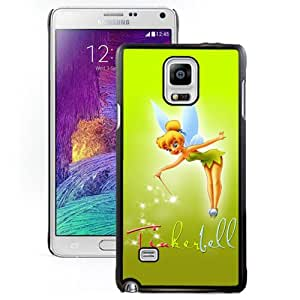 Nice and Unique Note4 Case Design with Tinkerbell Black Case for Samsung Galaxy Note 4 N910S N910C