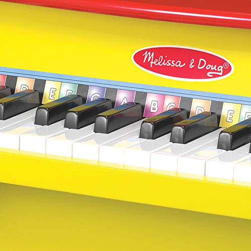 "51%2B%2B9GYkf2L - Melissa & Doug Learn-to-Play Piano, Musical Instruments, Solid Wood Construction, 25 Keys and 2 Full Octaves, 11.5"" H x 9.5"" W x 16"" L"