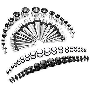 Set de 36 pares de dilatadores de oreja acrílicos para mujer ...