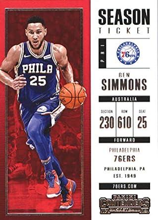 2017-18 Panini Contenders Season Ticket  25 Ben Simmons Philadelphia 76ers  Basketball Card 9b6057348