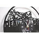 Deadpool Clock Wall Vinyl Marvel Deadpool Men Women Boys Birthday Set Deadpool Decor Home LP Vinyl Clock Art Movie Wall Clock - Deadpool Gift Idea - Deadpool Wall Decor - Deadpool Vinyl Clock Black 8