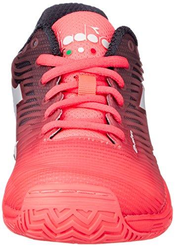 Fluo De Pour 4 Diadora noir Femme 5 weiss corail ag Koralle Chaussures Tennis C7284 Competition q7xYIwZ