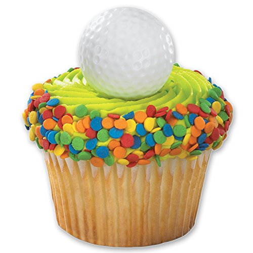 Ball Topper - DecoPac Golf Ball Cupcake Rings (12 Count)