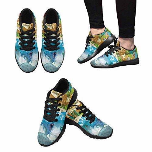 Interestprint Femmes Jogging Running Sneaker Léger Aller Confort De Marche Facile Sport Chaussures De Course Multi 4