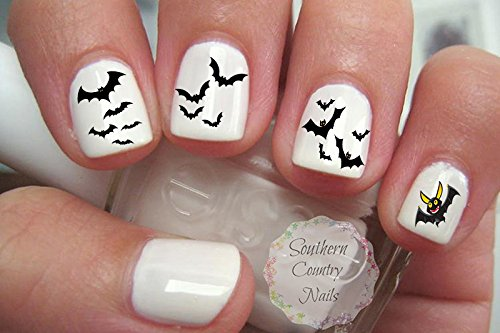 Halloween Bats Nail Art Decals ()