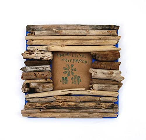 Square Driftwood Frame Rustic Home Decor