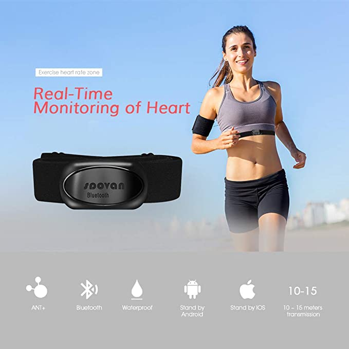 05a36dc9b4 Amazon.com  DMGF Bluetooth Sports Smart Heart Rate with Chest Strap  Heartbeat with Dual-Mode Pulse Monitoring Tape for Women Men Olds