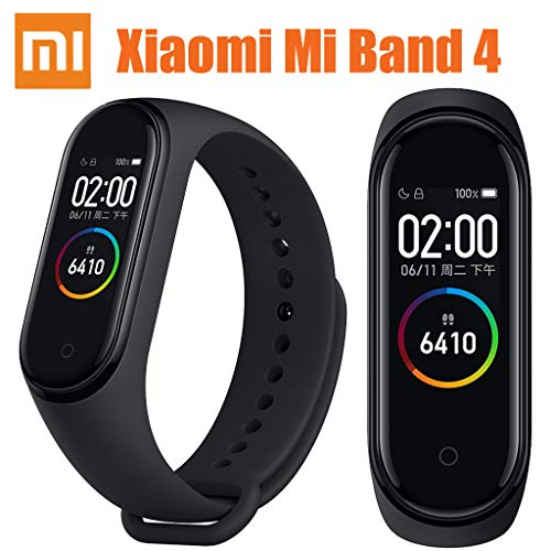 for Xiaomi Mi Band 4 Smart Watch Fitness Tracker Heart Rate Monitor Activity Tracker Watch Waterproof Smart Bracelet AMOLED Display Weather Forecast Wristband Pedometer Calories Sleep Monitor (Fitness Monitor Microsoft)
